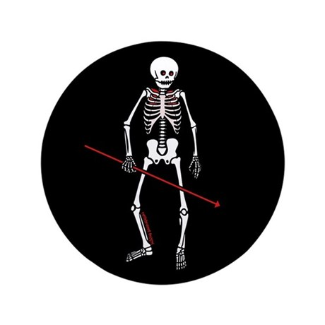"Hunting Skeleton 3.5"" Button (100 pack)"