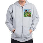 Strawberry Puzzle Zip Hoodie