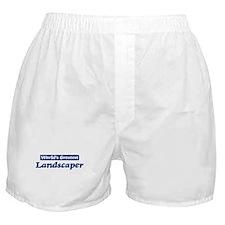 Worlds greatest Landscaper Boxer Shorts