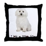 I Love My Bichon Frise Throw Pillow