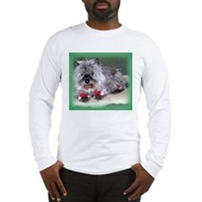 """Santa Claws"" Cairn Terrier Long Sleeve T-Shirt"