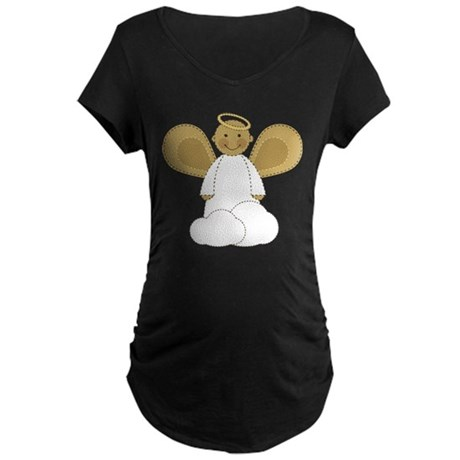 Cute Christmas Angel Maternity T-shirt