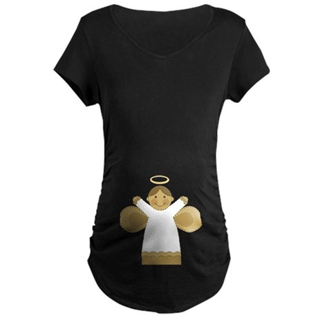 Sweet Angel Christmas Maternity T-shirt
