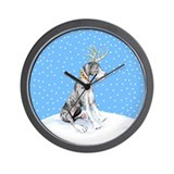 Great Dane Deer Merle UC Wall Clock