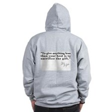 "STOP PRE ""The Gift"" Quote Zip Hoodie"
