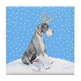 Great Dane Deer Mantle UC Tile Coaster