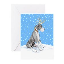 Great Dane Deer Mantle UC Greeting Cards (Pk of 20