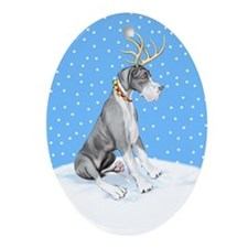 Great Dane Deer Mantle UC Oval Ornament