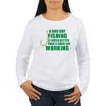 A Bad Day Fishing Women's Long Sleeve T-Shirt