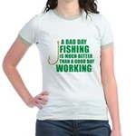 A Bad Day Fishing Jr. Ringer T-Shirt
