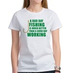 A Bad Day Fishing Women's T-Shirt
