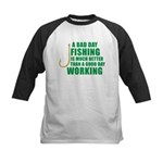 A Bad Day Fishing Kids Baseball Jersey