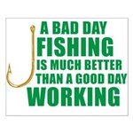 A Bad Day Fishing Small Poster