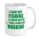 A Bad Day Fishing Large Mug
