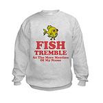 Fish Tremble Kids Sweatshirt