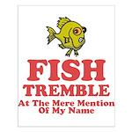 Fish Tremble Small Poster