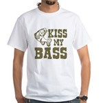 Kiss My Bass White T-Shirt