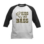 Kiss My Bass Kids Baseball Jersey