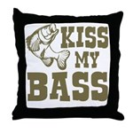 Kiss My Bass Throw Pillow