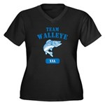 Team Walleye Women's Plus Size V-Neck Dark T-Shirt
