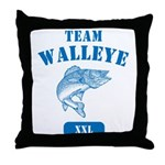 Team Walleye Throw Pillow