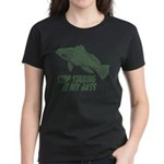 Stop Staring At My Bass Women's Dark T-Shirt