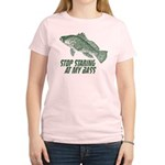 Stop Staring At My Bass Women's Light T-Shirt