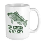 Stop Staring At My Bass Large Mug