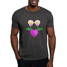 Beautiful Polka Dot Roses T-Shirt