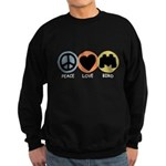 Peace Love Bird Sweatshirt (dark)