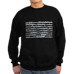 Birding Tag Cloud Sweatshirt (dark)