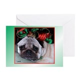 Pug christmas cards Greeting Cards (20 Pack)