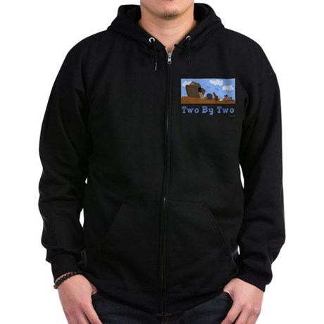 Noah's Ark Two By Two Zip Hoodie (dark)