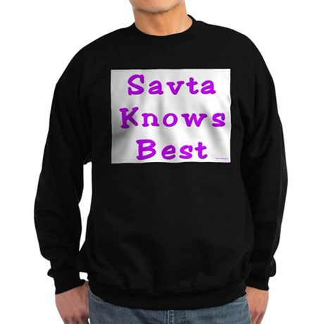 Savta Knows Best Sweatshirt (dark)