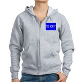 Hebrew Father's Day Card Zip Hoodie