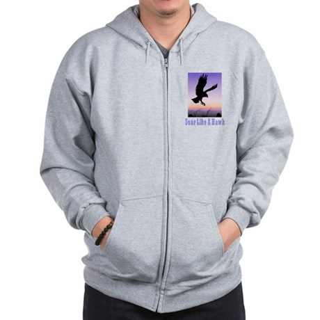 Flying High Soar Like A Hawk Zip Hoodie