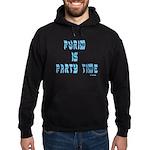 Purim Party Time Hoodie (dark)