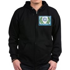 Jewish Welcome Star of David Zip Hoodie