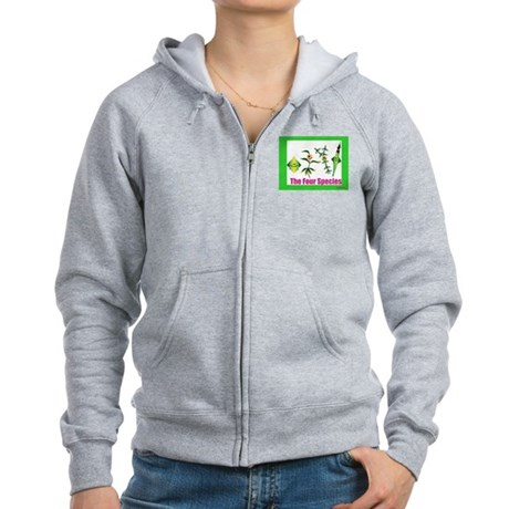 The Four Species Sukkot Women's Zip Hoodie