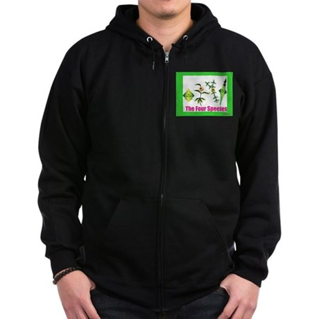 The Four Species Sukkot Zip Hoodie (dark)