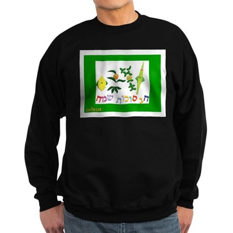 HAPPY SUKKOT HEBREW Sweatshirt (dark)