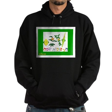 HAPPY SUKKOT HEBREW Hoodie (dark)