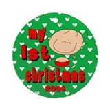 Cute Baby !st Chirstmas Ornament Dated 2008
