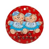 Twin Gingerbread Boys 1st Christmas Ornament