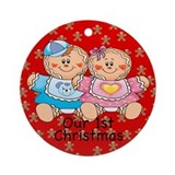 Twin Gingerbread G/B 1st Christmas Ornament