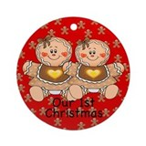 Twin Gingerbread Girls 1st Chirstmas Ornament
