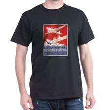 """New York Municipal Airports"" T-shirt (d"