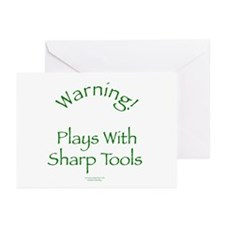 Warning - Sharp Tools Greeting Cards (Pk of 10)