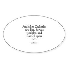 LUKE 1:12 Oval Decal