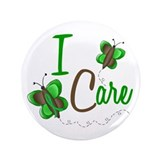 "I Care 1 Butterfly GREEN 3.5"" Button"